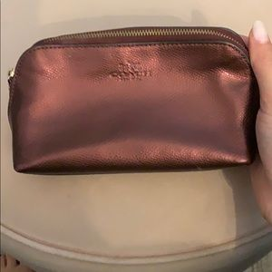 🍍8/$20 Brown Metallic make up bag